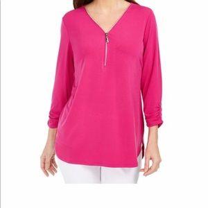JM Collection pink XL blouse
